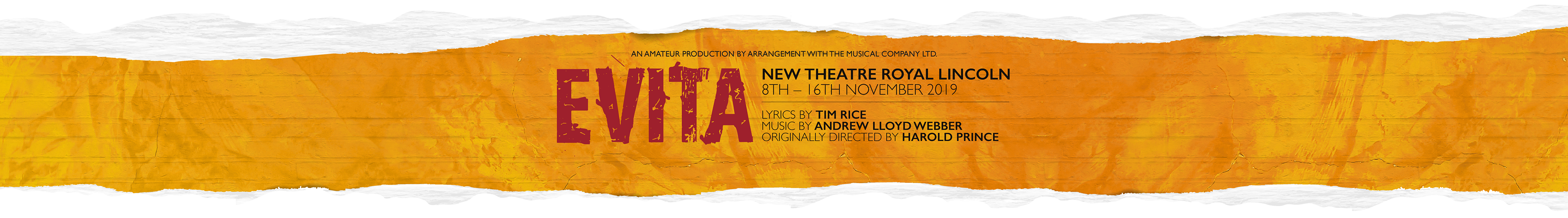 CAODS Presents EVITA at The New Theatre Royal Lincoln in 2018